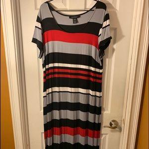 Ashley Stewart Maxi Striped Dress